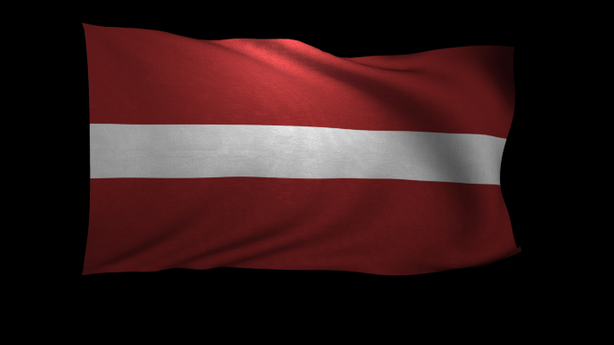 Latvia Flag 3D Rendering with Alpha Channel