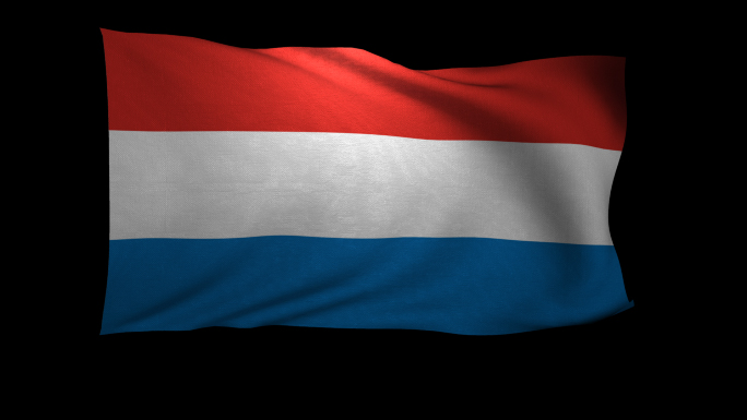 Luxembourg Flag 3D Rendering with Alpha Channel