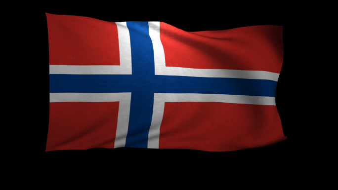 Norway Flag 3D Rendering with Alpha Channel