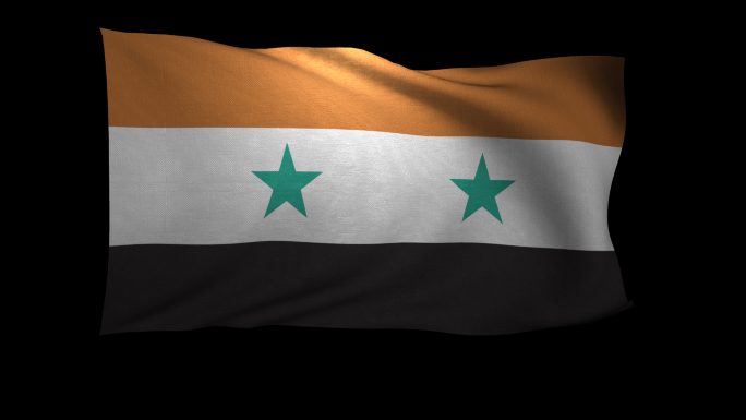 Syria Flag 3D Rendering with Alpha Channel
