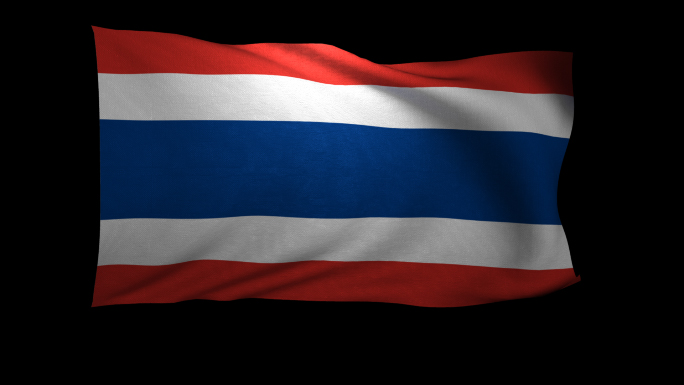 Thailand Flag 3D Rendering with Alpha Channel