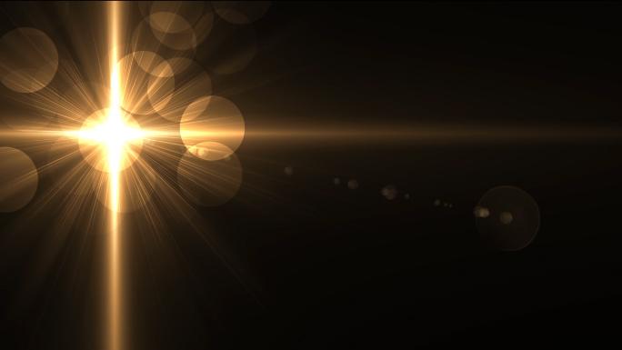 Glowing Golden Cross Flares