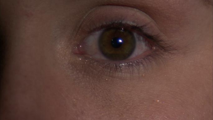 Closeup of an Eye with Tears
