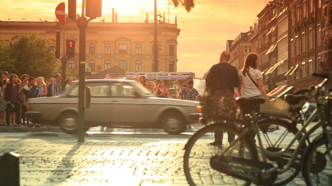 Street Traffic in Copenhagen Denmark 7