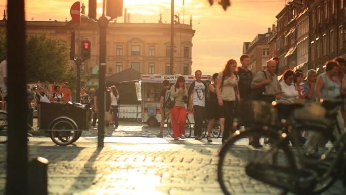 Street Traffic in Copenhagen Denmark 8