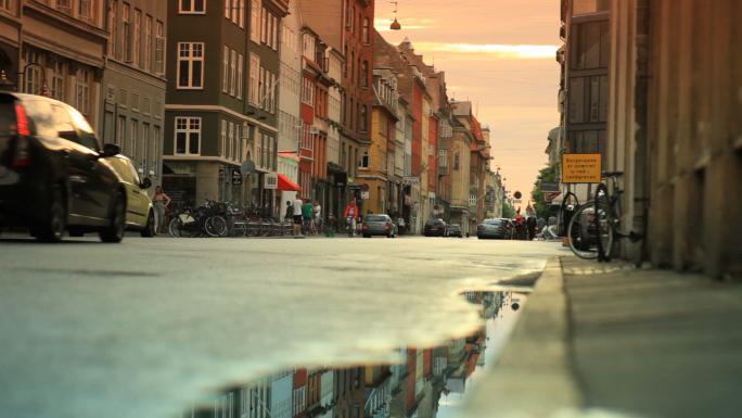 Street Traffic in Copenhagen Denmark 9
