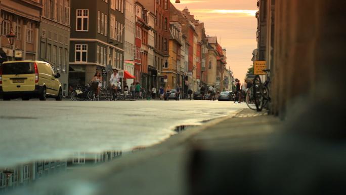 Street Traffic in Copenhagen Denmark 10