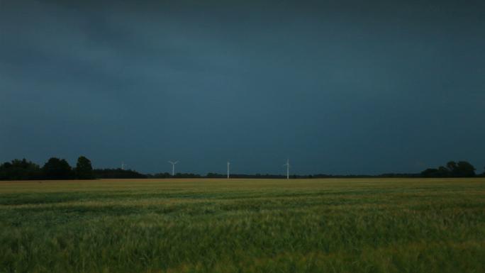 Wind Mills and Lightning in Copenhagen Field