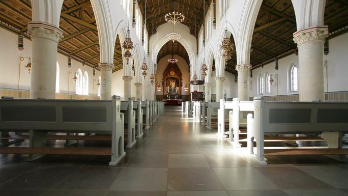Interior View of Copenhagen Church