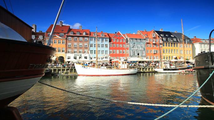 Boat Harbor in Copenhagen, Denmark 2