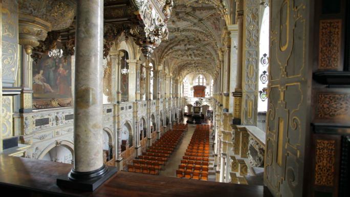 Interior View of Church in Copenhagen