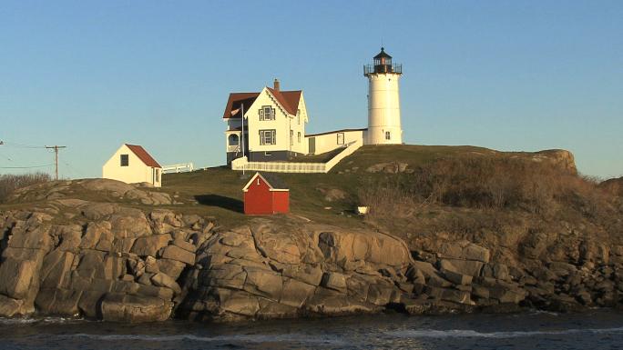 Lighthouse Nestled on Rocks 1