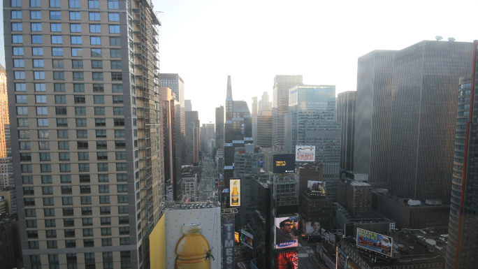 New York City Times Square Dawn to Afternoon Timelapse