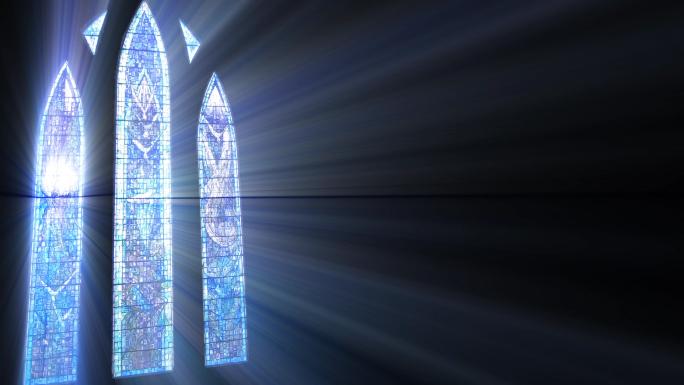 Satained Glass Sun Rays