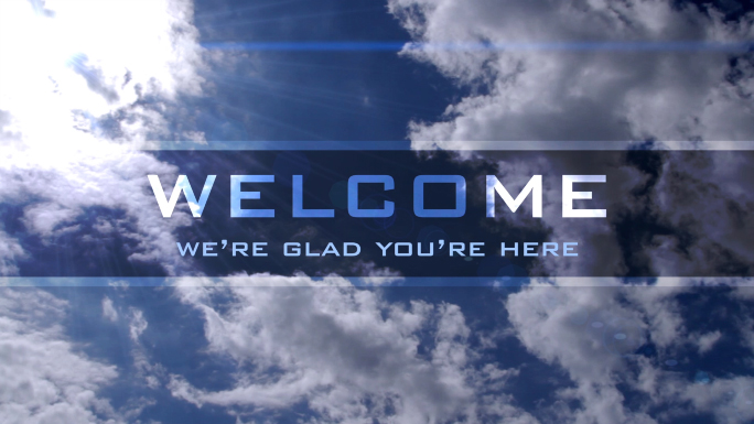 Welcome Text With Clouds