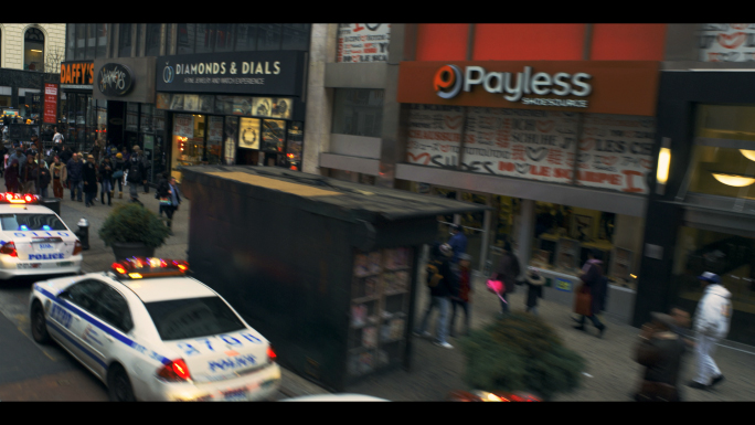Police Cars and People on West 34th Street in New York 2