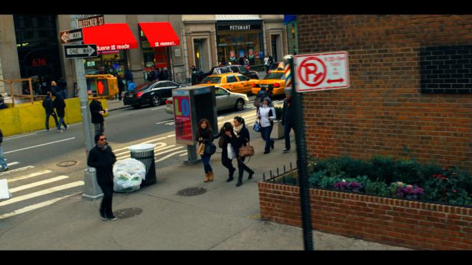 Turn onto Broadway from Bleecker Street